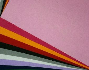 "Felt Sheet (12""X 12"") 2mm- in many different colors 3pcs  per pack"
