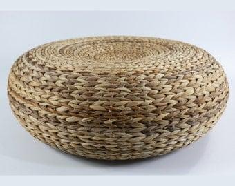 Speical sales 20% off: Dark colored rustic floor cushion/Floor pouf/Pouf ottoman/Wholesales Bulk/meditation cushion/GrasShanghai