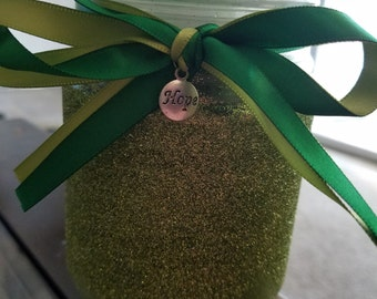 Glitter Candle with Charm