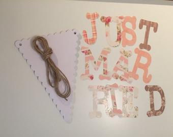 DIY - Just Married Bunting Kit