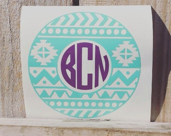 Aztec Monogram Decal