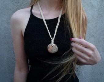 Granite Macrame necklace