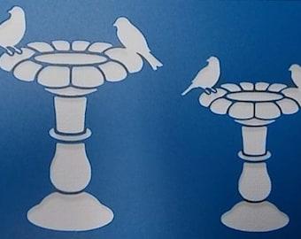 Birdbath Stencil