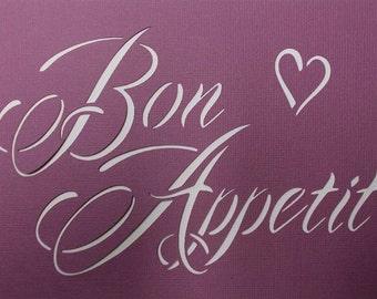 Bon Appetit Stencil