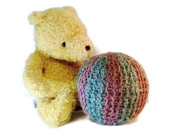 Softie Ball, Crocheted soft toy, organic yarn, Home and living, kids, color may vary, soft toys, crocheted toys, baby toys, kids toys, yarn