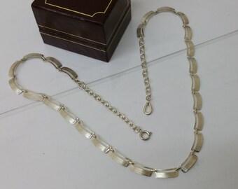Antique necklace 60s 835 silver necklace HK119