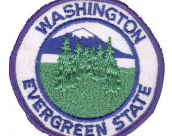 Vintage Washington Evergreen State Patch