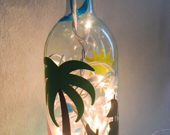 Wine Bottle Light • Beach/Ocean/Nautical Design
