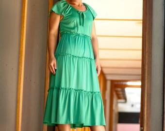 Womans retro 70's party dress
