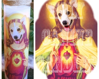Corgi Prayer Candle - Free Shipping (US)
