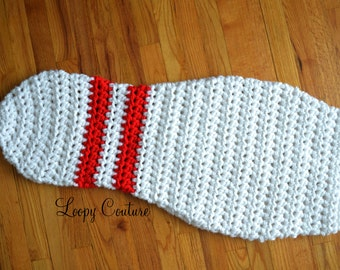 Crochet Blanket Bowling Pin  - Toddler/Preschool Size - READY TO SHIP!!