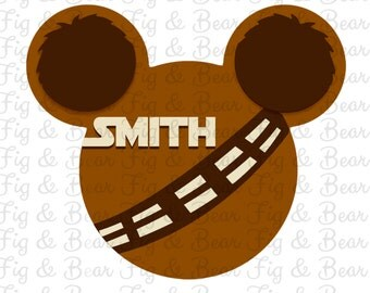 Chewbacca Mickey Mouse Star Wars Disney Iron On Transfer Personalized Free
