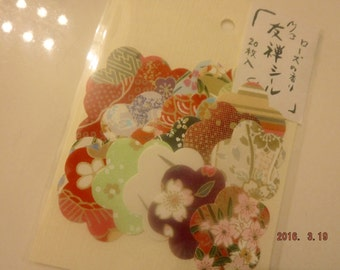 Yuzen stickers with rose scent (20pcs)