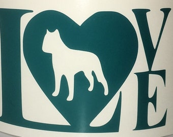 Love my Dog vinyl decal - Available in ALL sizes/colors!