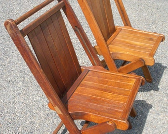 Unique Wood Folding Chair Related Items Etsy