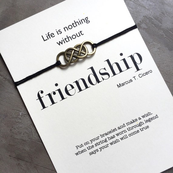 Friendship Quotes Jewelry: Friendship Bracelet Wish Bracelet Friendship Quote By