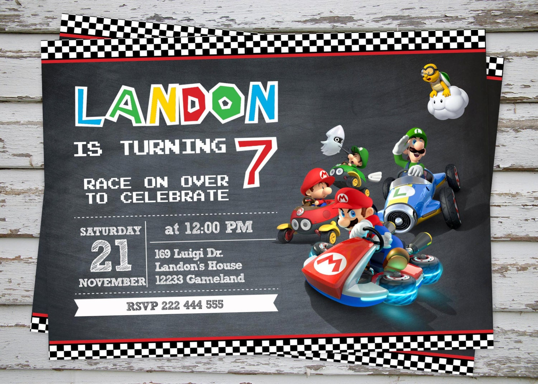 Super Mario Party Invitations was amazing invitations sample