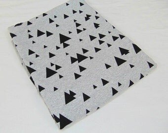 triangles jersey, cotton jersey, sewing fabric, fabric yardage, jersey fabric, geometric jersey, fabric by the yard, fabric by the metres