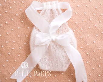 UK Seller,White Newborn Mohair Romper, Newborn Romper, 3-6 month Mohair Romper, 6-9 month Mohair Romper, Girl Photography Props,Handmade.