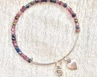 Beaded Adjustable Charm Bracelet