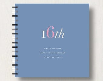 Personalised 16th Birthday Memories Book or Album