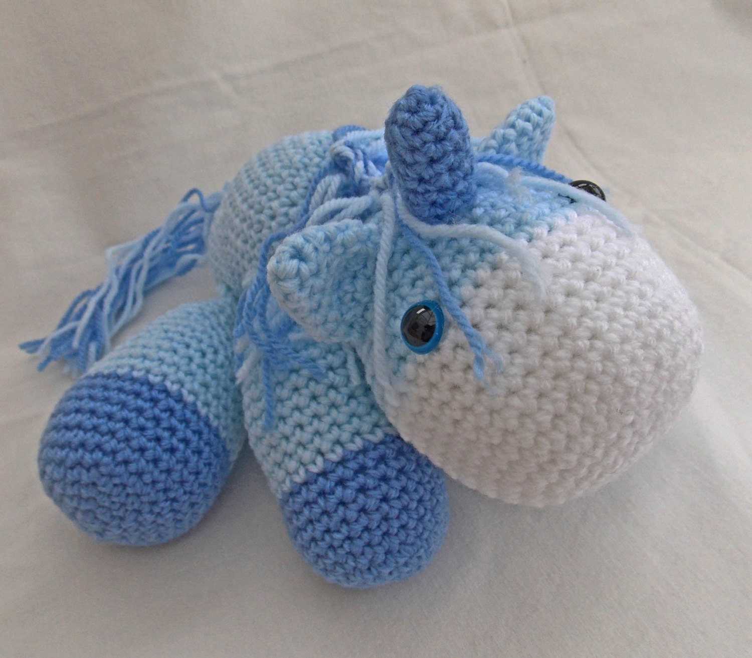 Unicorn Amigurumi Yarn Yard : Crochet Unicorn Amigurumi Unicorn blue new baby by ...