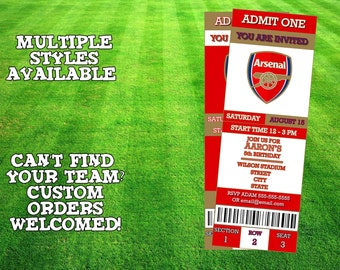 Arsenal F.C. Invitation