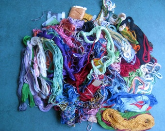 Huge Lot Assorted Colors Vintage Embroidery Thread Most not in Skeins Vintage Crafts Sewing