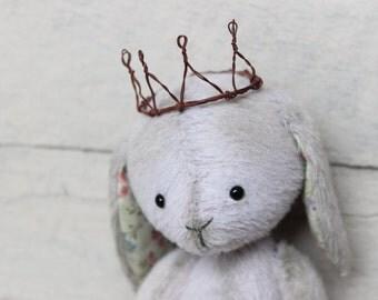 "Stuffed bunny.""Little Princess"".Bunny. Stuffed rabbit.Rabbit.Teddy Bear.Vintage teddy.Old teddy.Torture teddy.Artist teddy.Teddy"