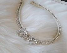 Stunning silver rhinestone headband