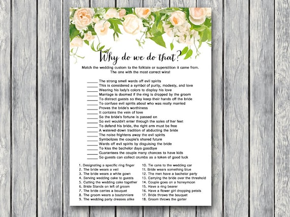 Why Do We Do That Bridal Shower Game Wedding Tradition Quiz. Wedding Favours Labels. Wedding Shower Invitations Glitter. Wedding Themes With Pink. Discount Wedding Dresses Australia. Wedding Day Inspiration. Problems With The Knot Wedding Website. Wedding Invitation Cards Uae. Wedding Program Names