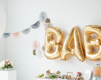 40' BABY COMBO / Jumbo Balloons / baby shower Decor / Foil Letter Balloons / Biryhday Party / Happy 1st Birthday Party