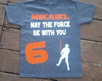 Luke Skywalker Star Wars Birthday Shirt