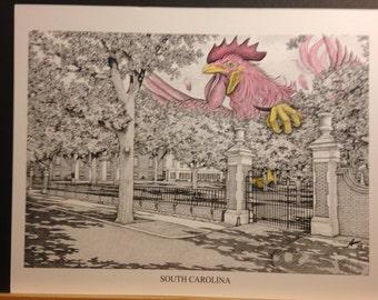 South Carolina 11x14 print