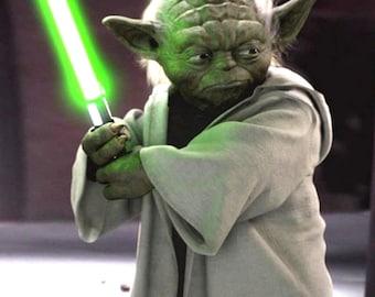 Yoda with Lightsaber Pattern