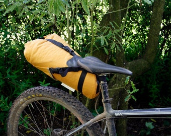 Dropper Compatible Seat pack for Bikepacking or Touring, Custom Color