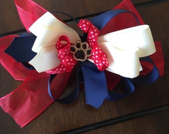 School spirit hair bows