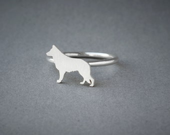 GERMAN SHEPHERD Ring • German Shepherd • Name Ring • Birthstone Ring • Custom Ring • Dog Gift • Dog Ring • Dog Breed