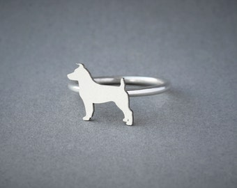JACK RUSSELL RING / Jack Russell Ring / Silver Dog Ring / Dog Breed Ring / Silver, Gold Plated or Rose Plated.
