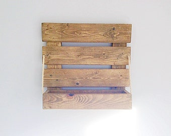 Handmade rustic French Country style Reclaimed wood shelf / Storage / Wine rack / wall shelf Rustic
