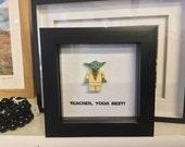 Teacher Gift - Personalised Teacher, Yoda Best! Great gift for a Teacher Star Wars or Yoda Fan.