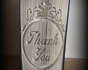 Thank you cut and fold book folding pattern