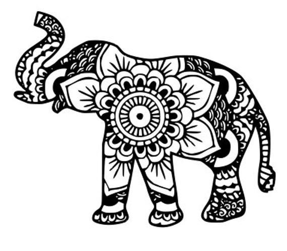elephant mandala svg dxf eps files by shelbyssoutherncuts