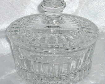 Vintage 1970's-80's PRESSED Crystal Covered Candy Dish