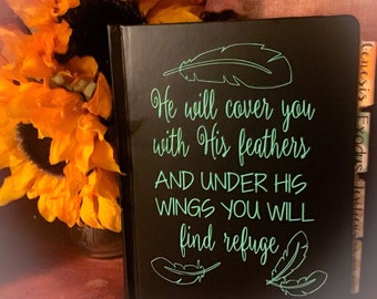 """DECAL ONLY! """"He Will Cover You"""" Vinyl Decal"""