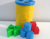 Vintage Fisher Price Shape Sorter Toy 1977 Retro Child Toddler Baby