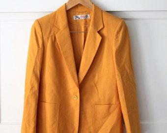 Mustard yellow wool blazer - sz 6