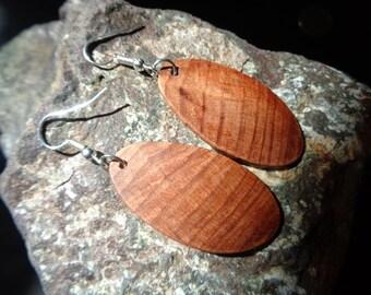 Wood Earrings,Earrings,Burl Wood Dangle Earrings,Organic Juniper Burl Wood Earrings,Beautiful Unique Earrings,Silver,Juniper Burl Earrings