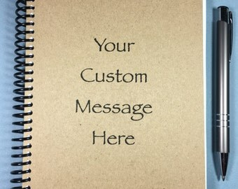 Personalized Journal, Journal, Hand-made, Kraft, Personalized Notebook, Custom, Custom cover