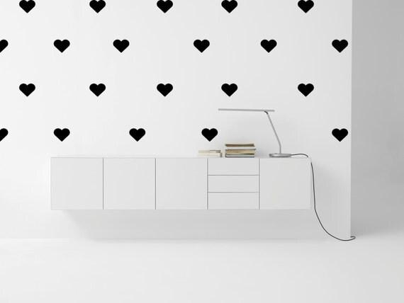 D calque mural coeur 5 pouces plusieurs couleurs for Decalque mural